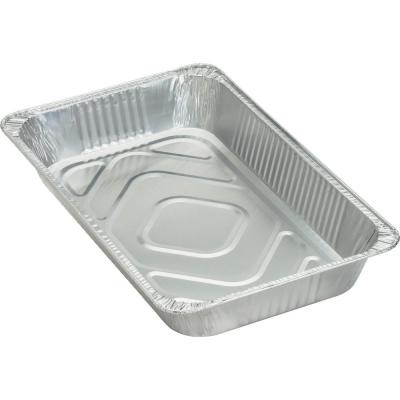 Silver Aluminum 8.8 Qt. Full-Size Disposable Pan Platters and Trays (50 Per Case)