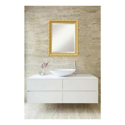 Versailles Antique Gold Wood 20 in. W x 24 in. H Single Traditional Bathroom Vanity Mirror