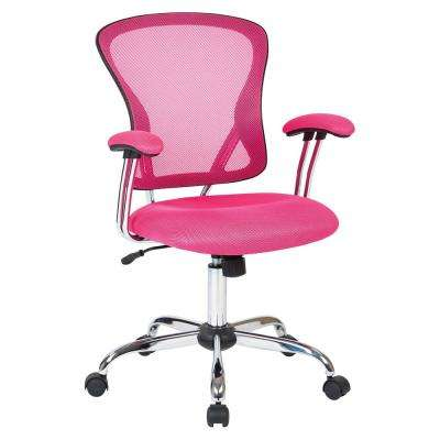 pink office chair with arms juliana pink task chair office chairs home furniture the depot
