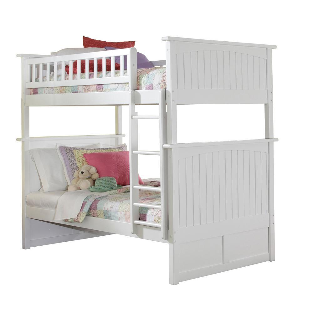 Nantucket White Twin Bunk Bed