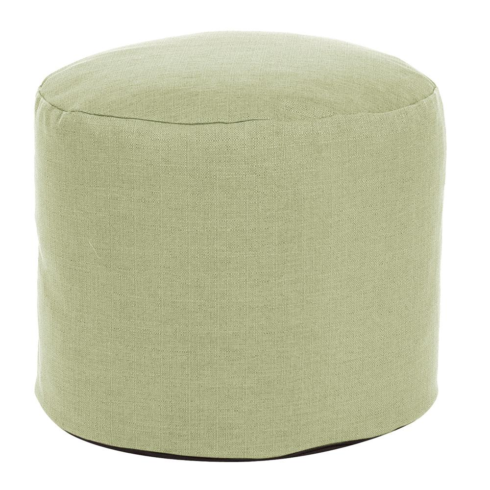 Tall Pouf Sterling Willow Green Ottoman