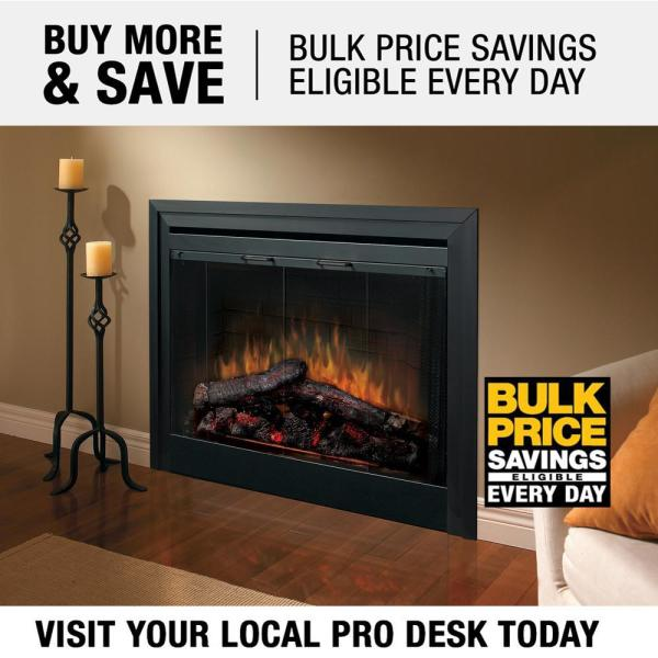 Dimplex 33 In Deluxe Built In Electric Fireplace Insert Bf33dxp The Home Depot
