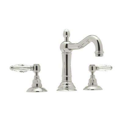 Acqui 8 in. Widespread 2-Handle Bathroom Faucet in Satin Nickel