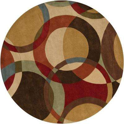 Seletar Brown 6 Ft Round Area Rug