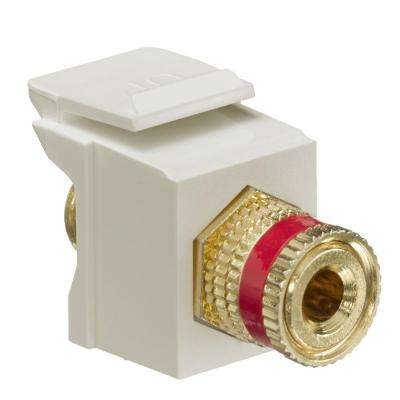 QuickPort Binding Post Connector with Red Stripe, Ivory
