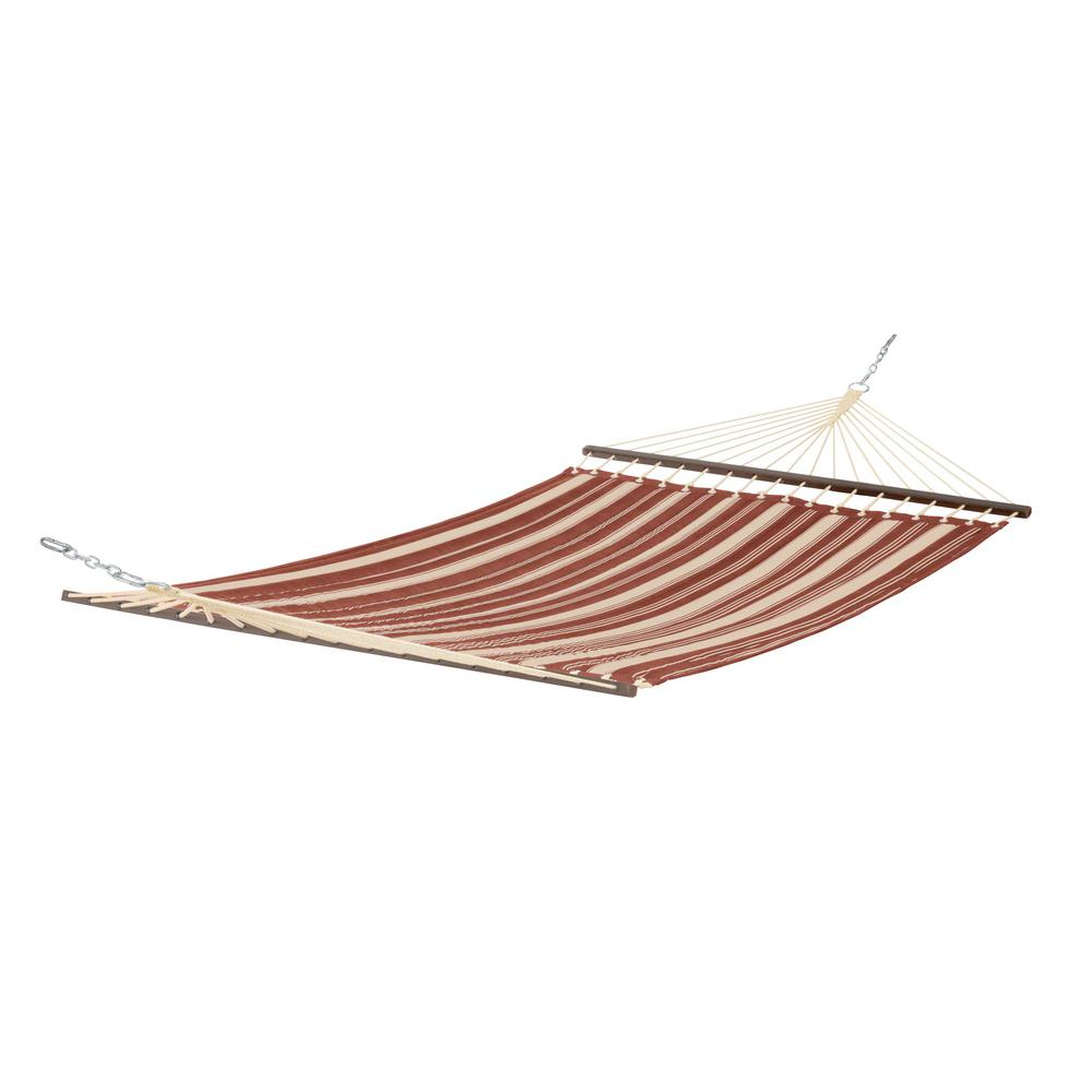 Montlake 11 ft. Quilted Hammock in Heather Henna Stripe
