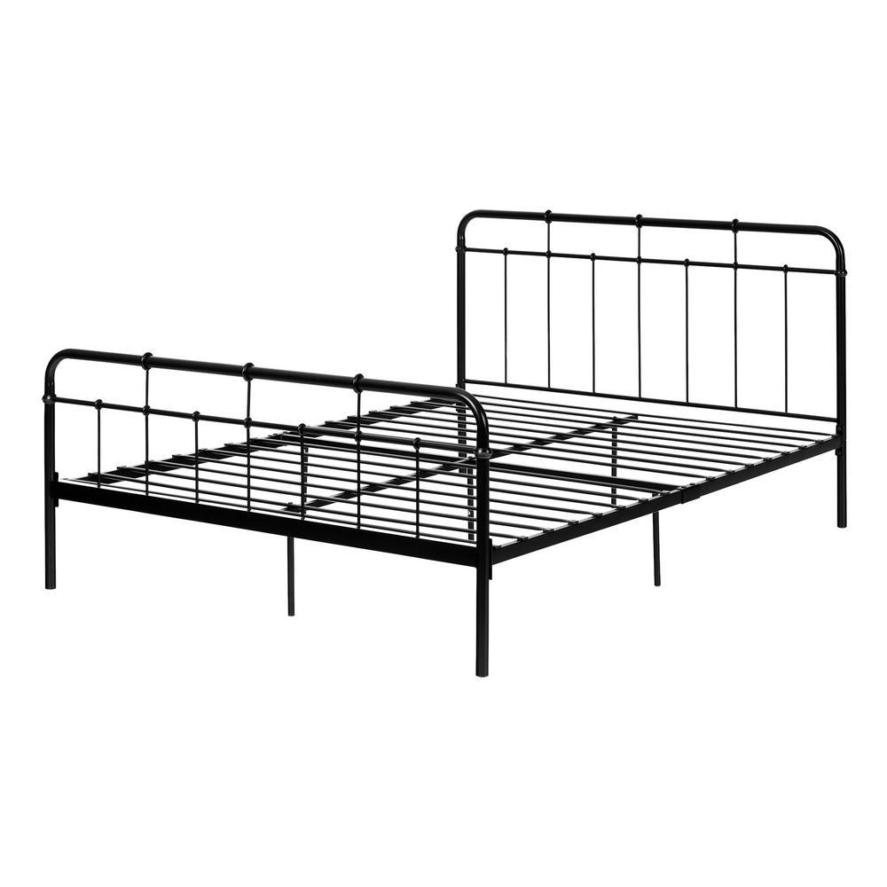 Holland Queen-Size Metal Platform Bed in Black