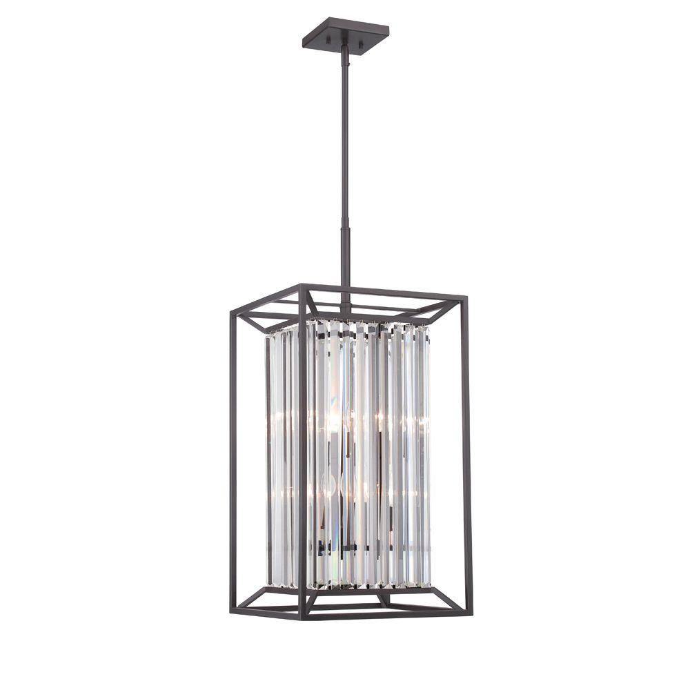 Designers Fountain Linares 4 Light Vintage Bronze Interior Incandescent Hall And Foyer