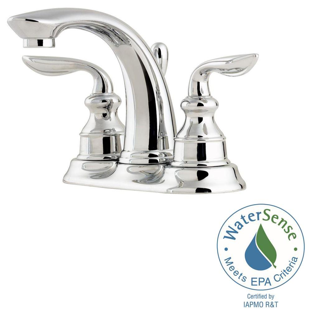 Pfister Avalon 4 In Centerset 2 Handle Bathroom Faucet In Polished