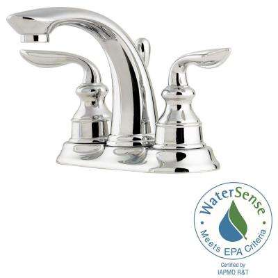 Avalon 4 in. Centerset 2-Handle Bathroom Faucet in Polished Chrome