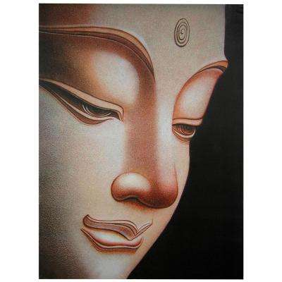 "Oriental Furniture 32 in. x 24 in. ""Buddha"" Canvas Wall Art"