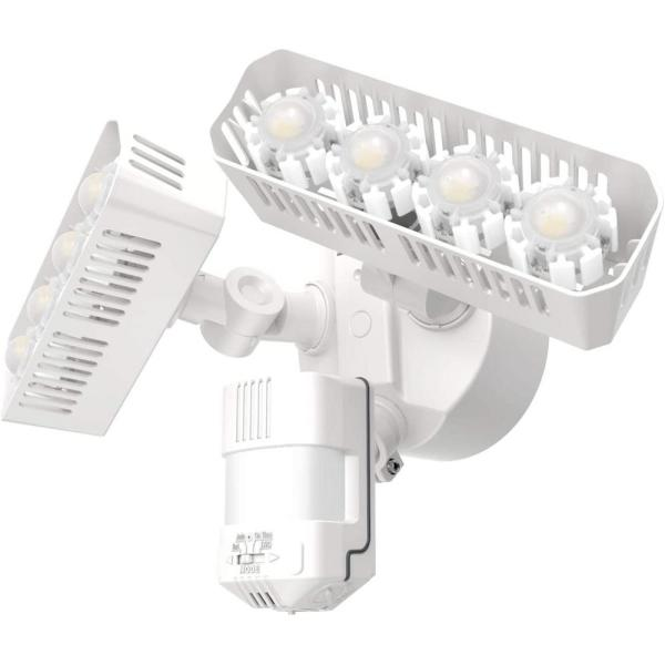 36W 180-Degree White Motion Sensor Dusk to Dawn Outdoor LED Waterproof Flood Security Light, 3600 Lumens 5000K Daylight