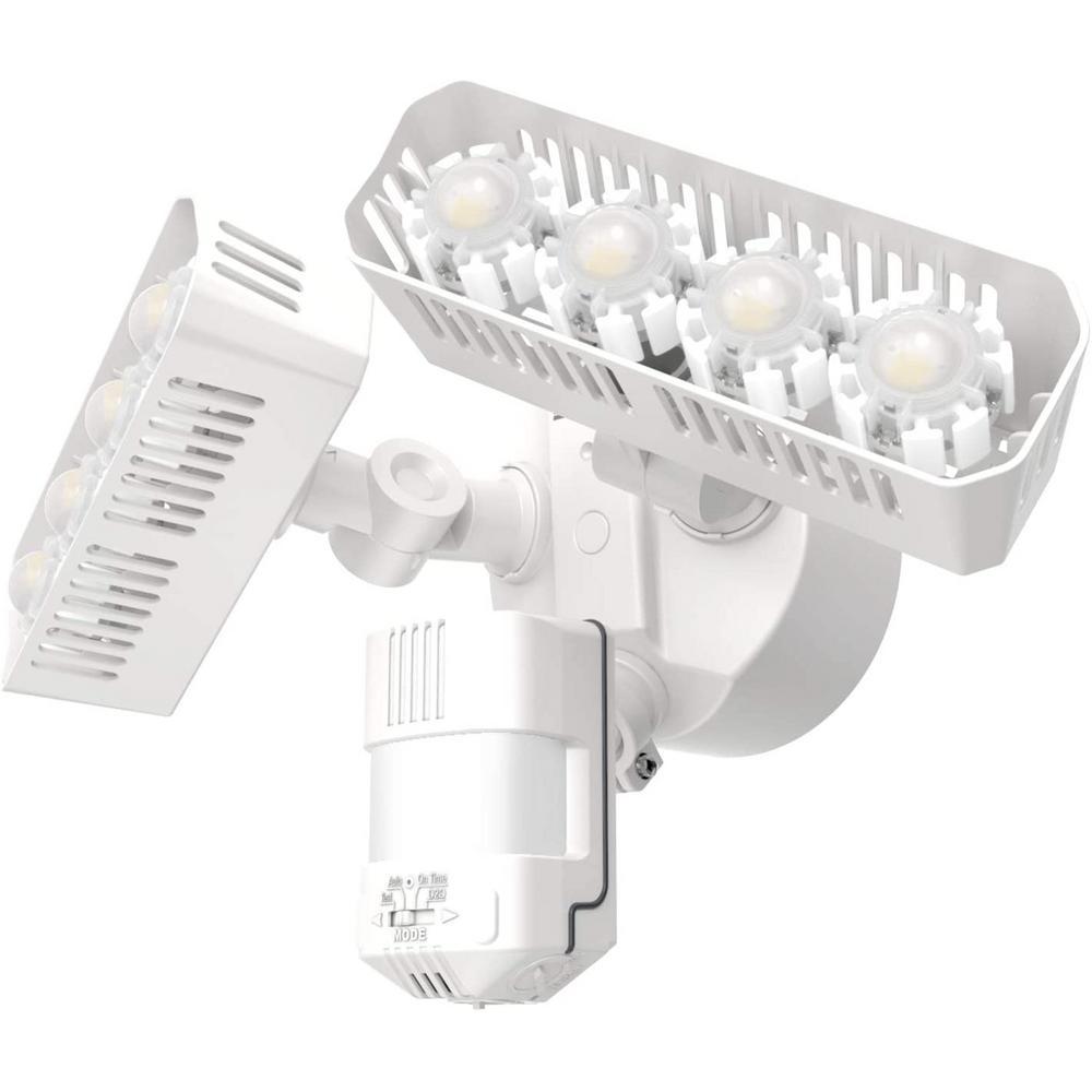 36W 180-Degree White Motion Sensor Dusk to Dawn Outdoor LED Waterproof Flood Security Light, 3600 Lumens 5000K Daylight