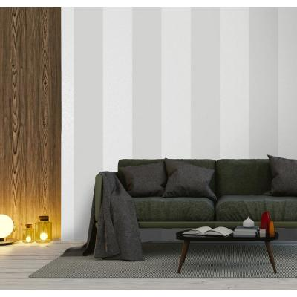 Grey Aztec Stripe Wallpaper