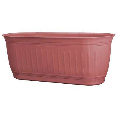 Colonnade 24 in. x 7 in. Brick Wood Resin Window Box Planter
