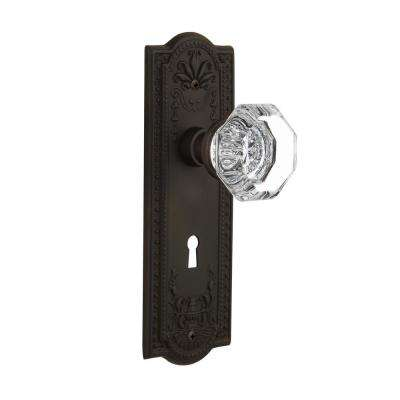 Meadows Plate with Keyhole 2-3/8 in. Backset Oil-Rubbed Bronze Privacy Bed/Bath Waldorf Door Knob
