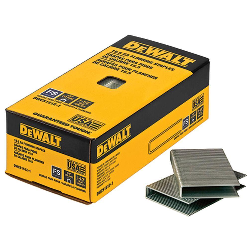 DEWALT 1 1/2 In. X 15.5 Gauge Glue Collated Flooring Staples