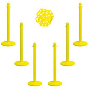 Mr. Chain Medium Duty Stanchion and Chain Kit in Yellow by Mr. Chain