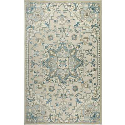 Shabby Chic Chandler Primrose Ivory/Blue 7 ft. 10 in. x 10 ft. 2 in. Indoor Area Rug