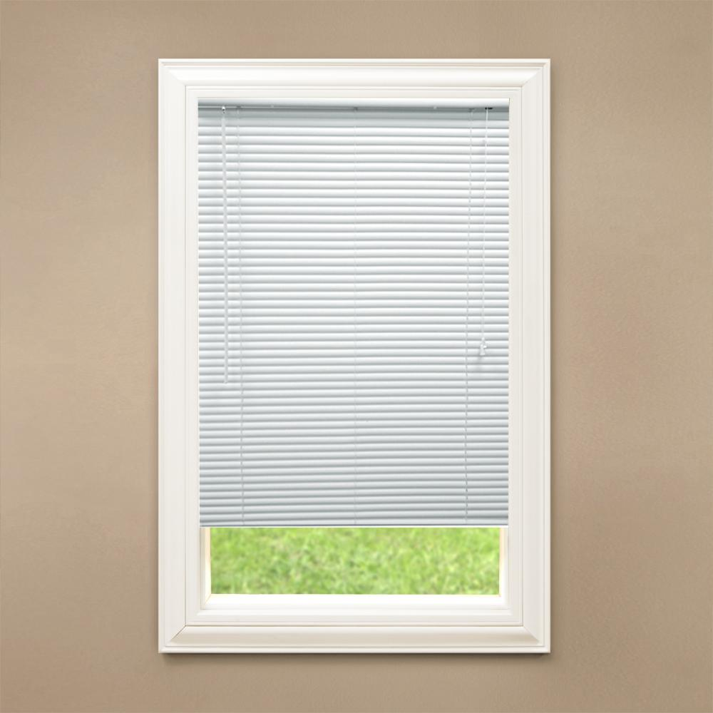 White 1 in. Room Darkening Vinyl Blind - 38 in. W
