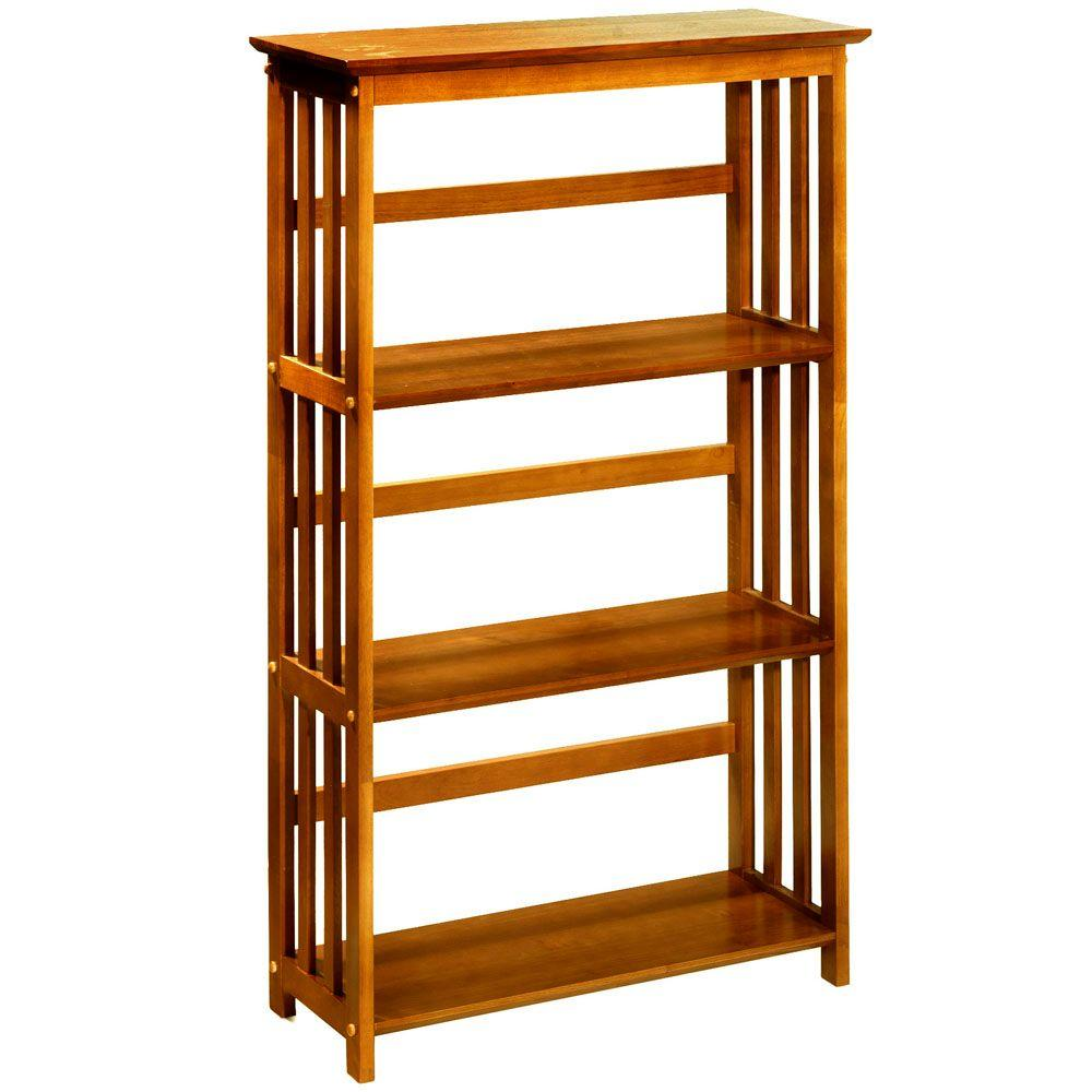 Home Decorators Collection Mission 29.5 in. W 3-Shelf Bookshelf in Honey Oak