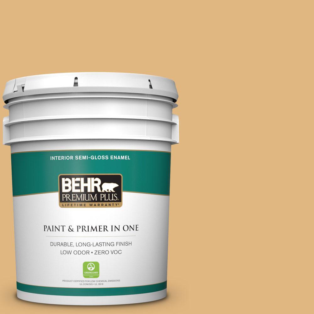 BEHR Premium Plus 5-gal. #M270-5 Beehive Semi-Gloss Enamel Interior Paint
