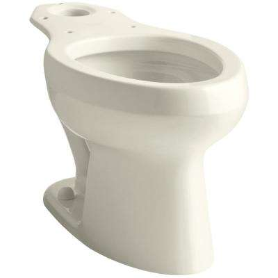 Wellworth Pressure Lite Elongated Toilet Bowl Only in Biscuit