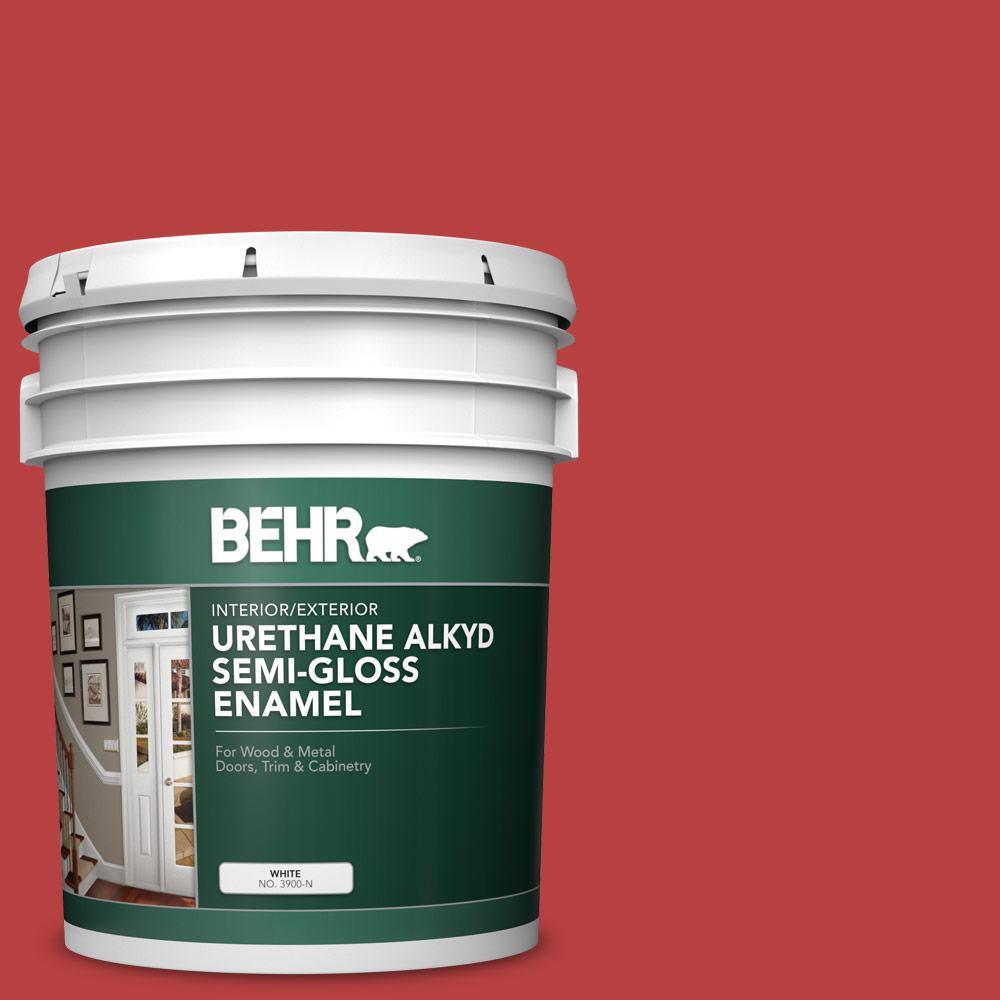 5 gal. #OSHA-5 OSHA SAFETY RED Urethane Alkyd Semi-Gloss Enamel Interior/Exterior Paint