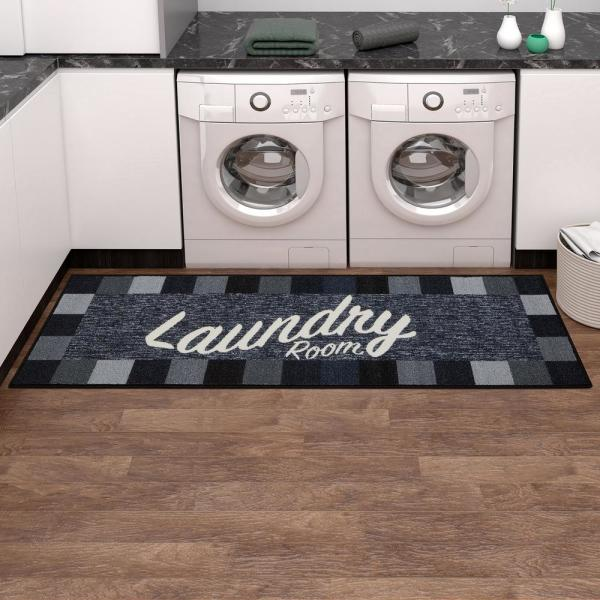 Reviews For Ottomanson Laundry Collection Modern Design Black 1 Ft 8 In X 4 Ft 11 In Runner Rug La5023 20x59 The Home Depot