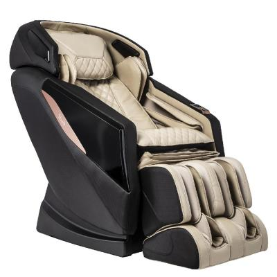 OSAKI OS-PRO Yamato Faux Leather Reclining Massage Chair in Cream