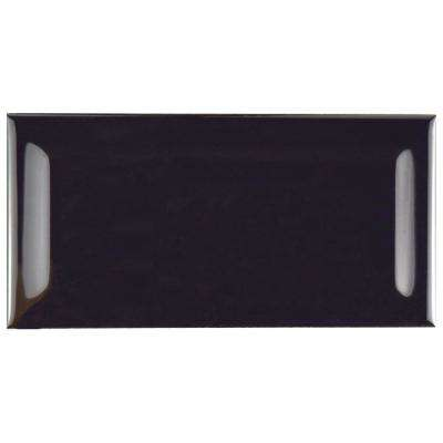 Park Slope Beveled Subway Black 3 in. x 6 in. Ceramic Wall Tile (19.18 sq. ft. / case)