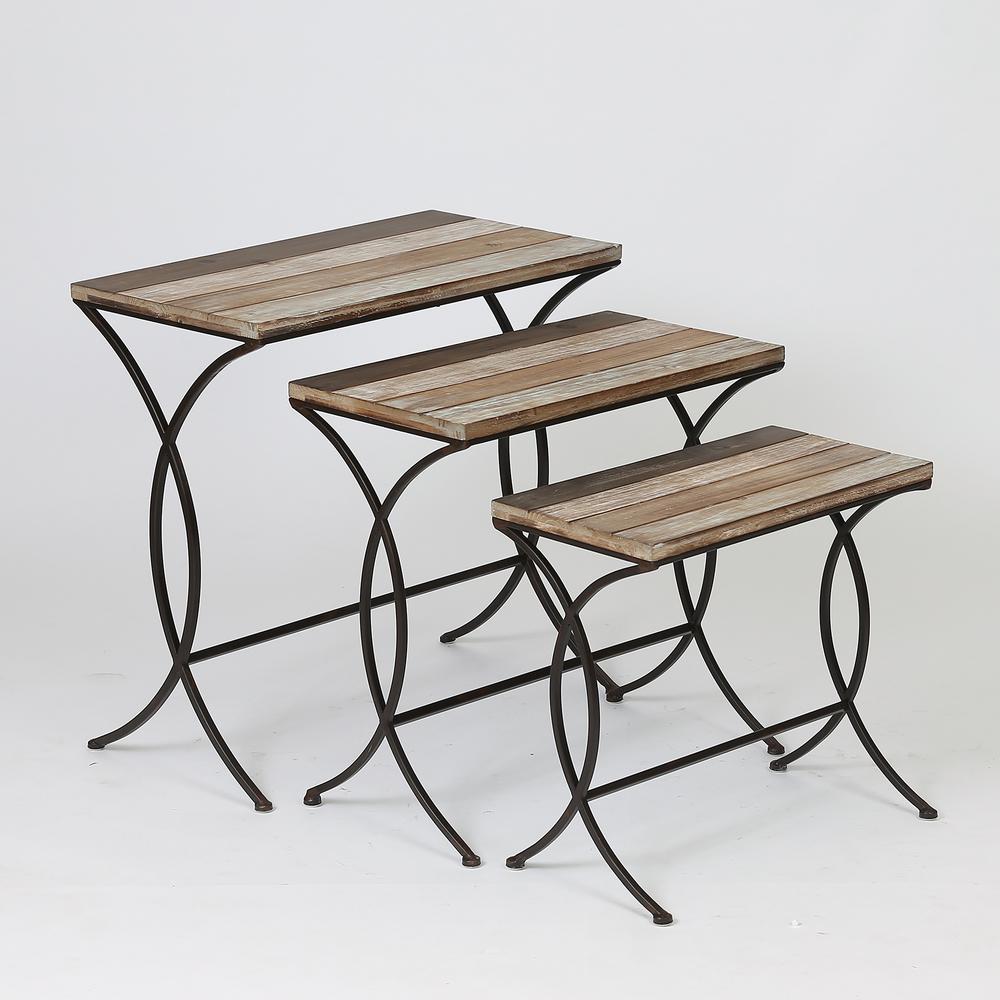 Natural End Tables (Set of 3)
