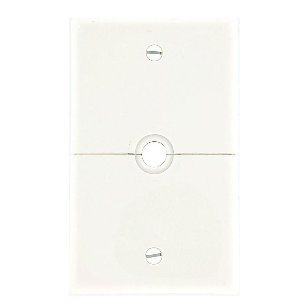 White 1-Gang Phone Jack Wall Plate (1-Pack)
