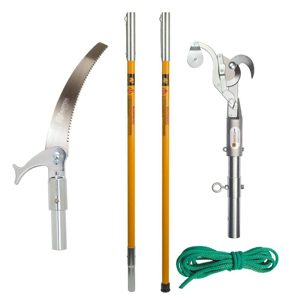 15 in. Steel Blade 12 ft. Pole Fiberglass Pole Saw Set
