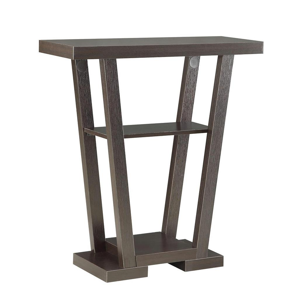 Convenience concepts newport espresso v console table 121399 the convenience concepts newport espresso v console table geotapseo Images