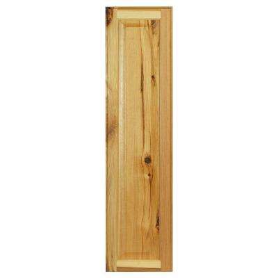 0.75x39.75x10 in. Hampton Wall Cabinet Decorative End Panel in Natural Hickory