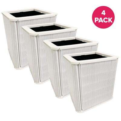 Replacement Blueair 211 Plus Air Purifier Filters with Built-In Carbon Filters, Foldable (4-Pack)
