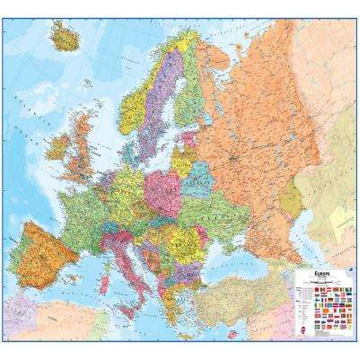 Europe 1:4:3 Wall Map