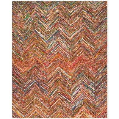 Nantucket Red/Blue/Multi 8 ft. x 10 ft. Area Rug
