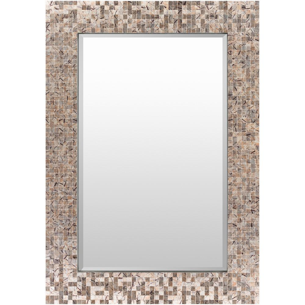 Wylde 40 in. x 28 in. Coastal Framed Mirror