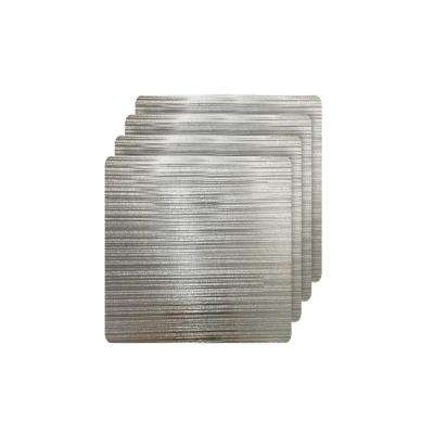 Emery Silver Metallic Reversible Square Placemats (Set of 4)