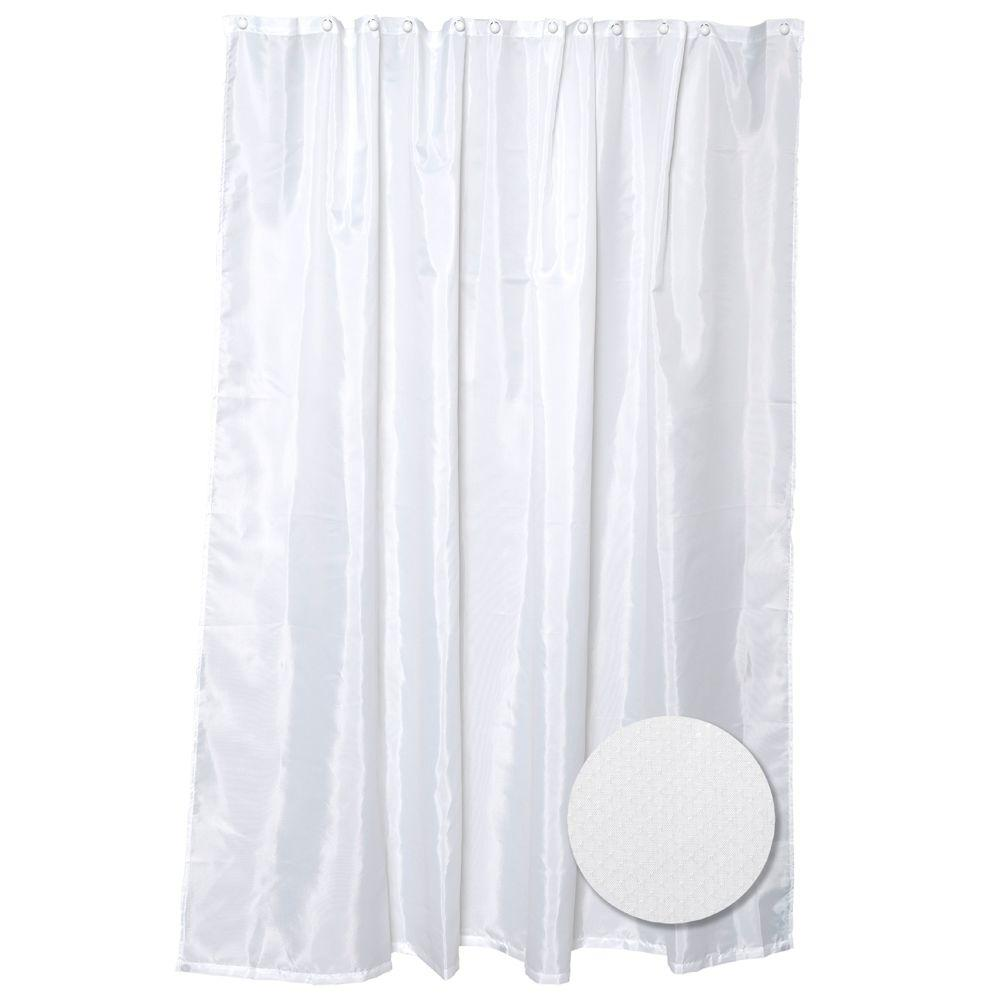 H Fabric Shower Curtain Liner In