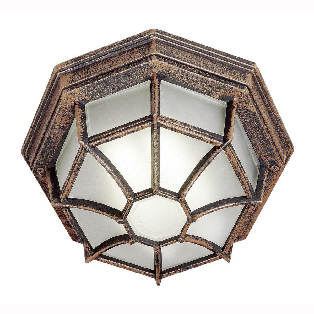 Bel Air Lighting Energy Saving 1-Light Outdoor Rust Ceiling Fixture ...