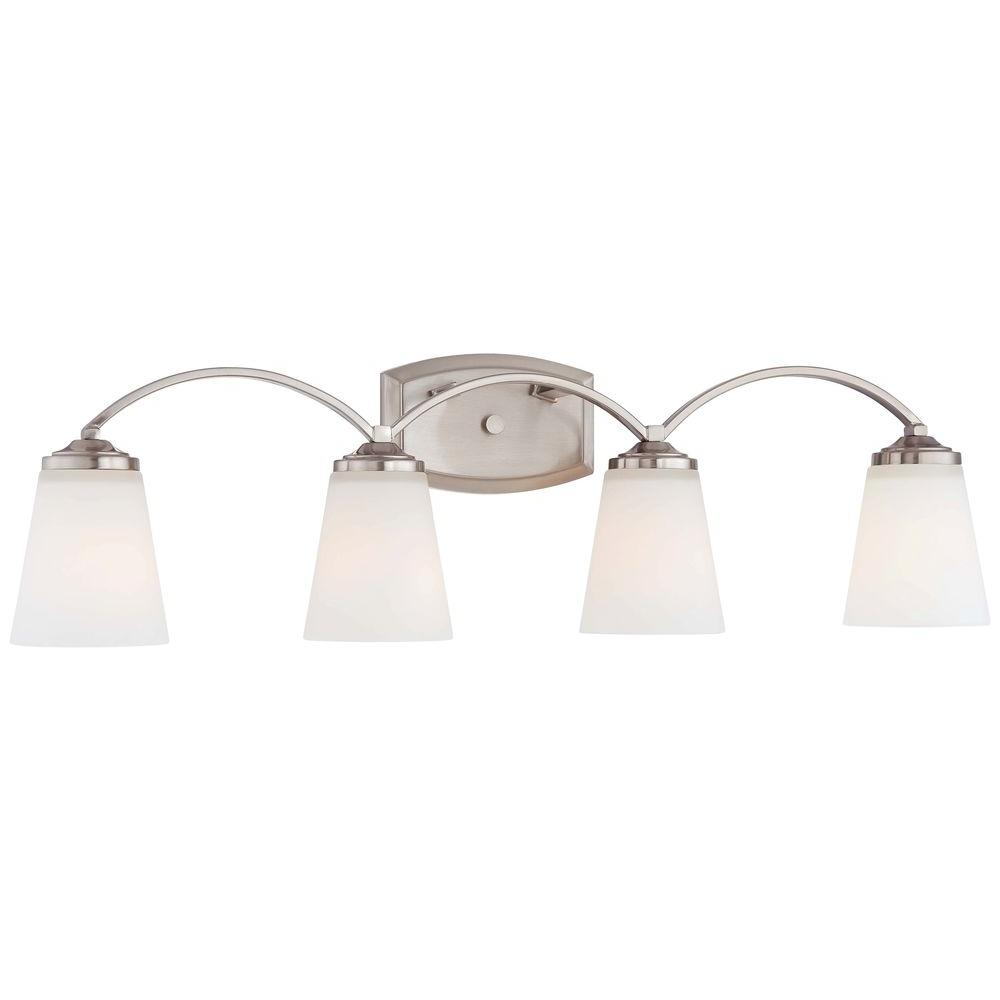 Overland Park 4-Light Brushed Nickel Bath Light