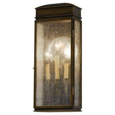 Whitaker 3-Light Astral Bronze Outdoor 22.5 in. Wall Lantern