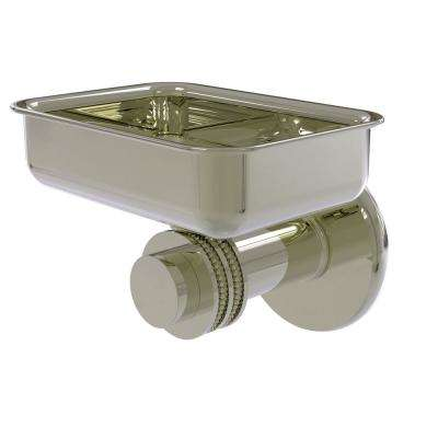 Mercury Collection Wall Mounted Soap Dish with Dotted Accents in Polished Nickel