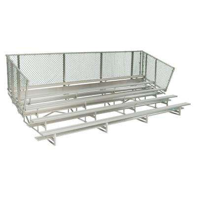 15 ft. 5-Row Aluminum Bleacher Frame with Chain Link