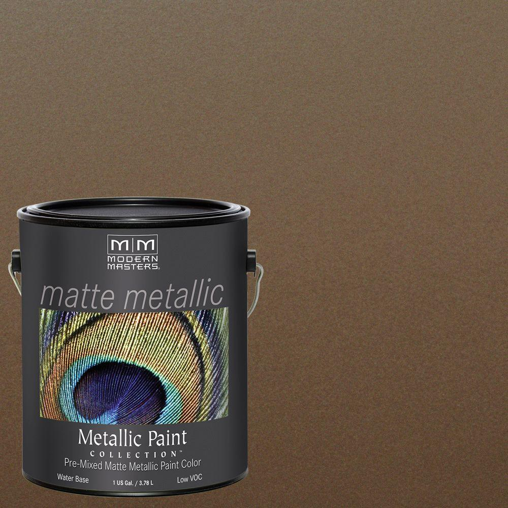 1 gal. Blackened Bronze Water-Based Matte Metallic Interior Paint