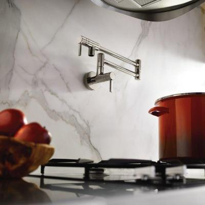Modern Wall Mounted Swing Arm Potfiller in Chrome