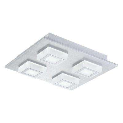 Masiano 4-Light Brushed Aluminum Integrated LED Ceiling/Wall Light